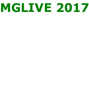 MGLIVE 2017          17th/18th June 2017